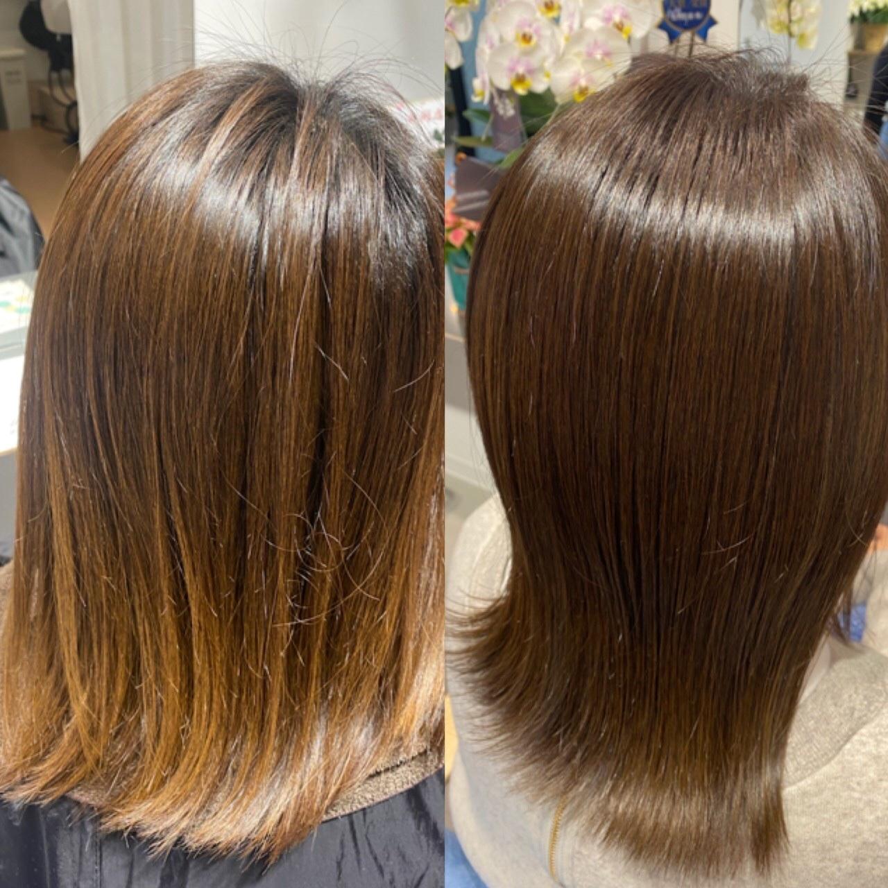 カラーで髪を傷ませない施術が可能です。