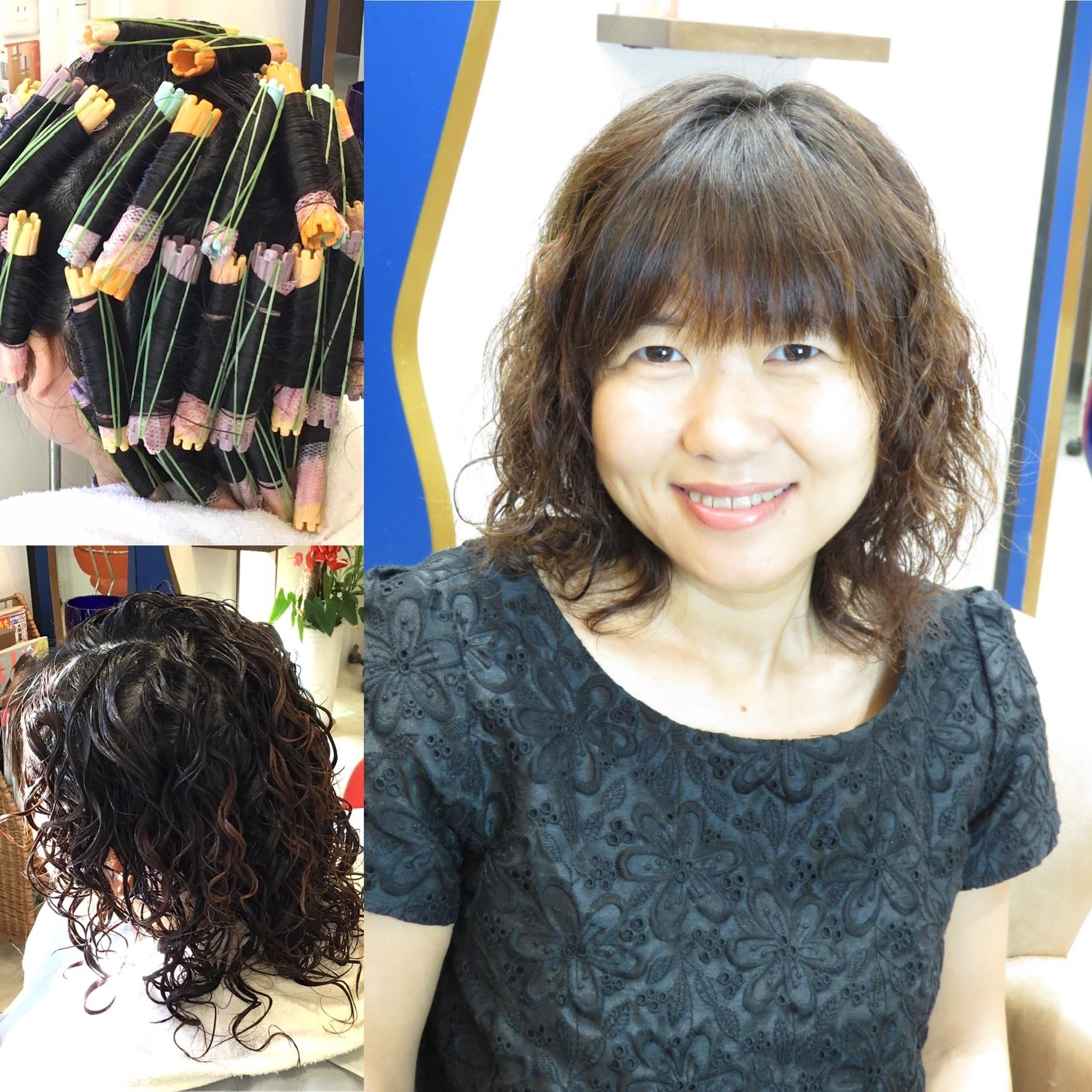 ファッションカラーデラックス(カット&パーマ&カラー)¥12,000
