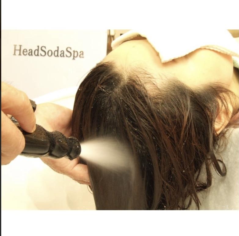 炭酸ヘッドソーダスパで髪がサラサラ、ツヤツヤに!