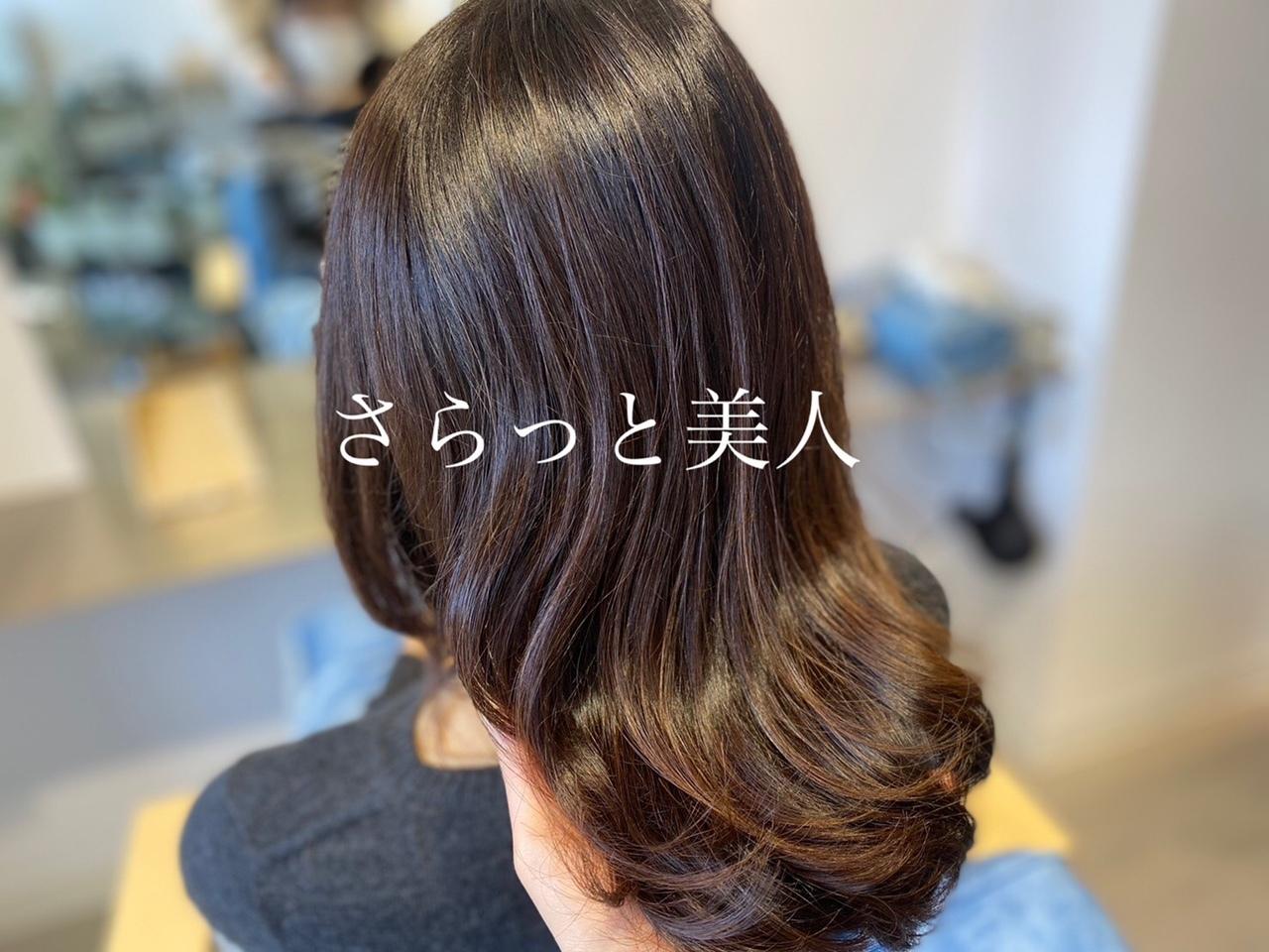 髪質改善をすると見違えるほどの艶と手触りが続いていきます。