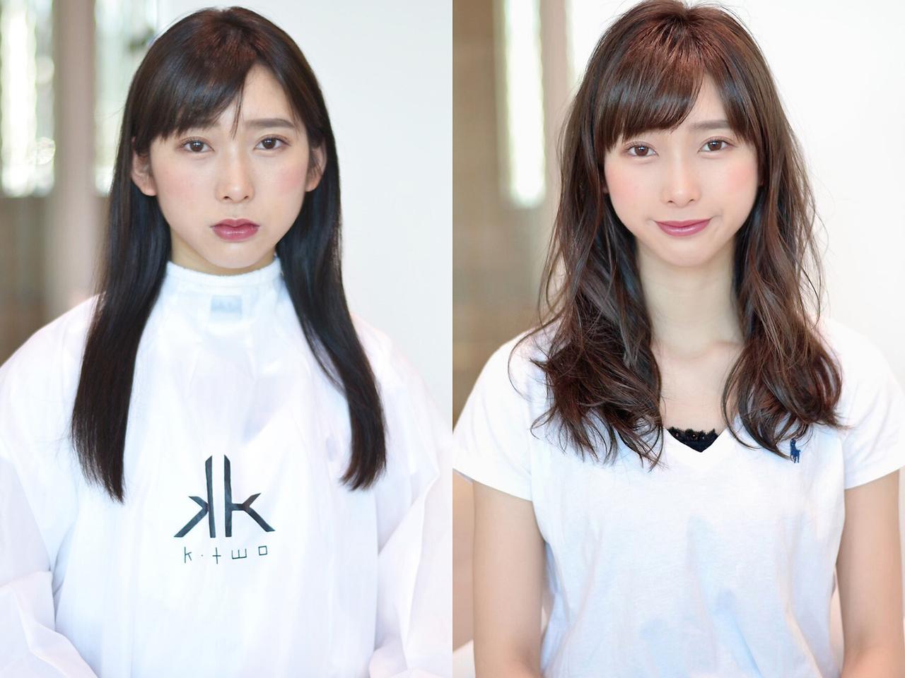 K-two独自の小顔カットで期待以上の仕上がり☆