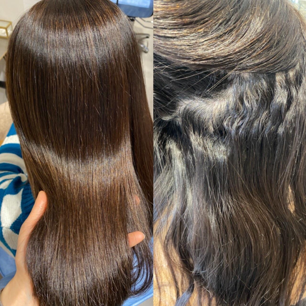 ノンダメージ髪質改善で天使の輪ができる艶髪へ