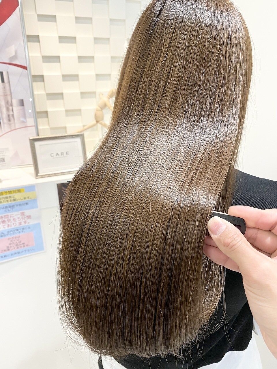 お客様の髪質やダメージに合わせてトリートメントを調合し、芯から潤うツヤ髪に髪質を改善します◎