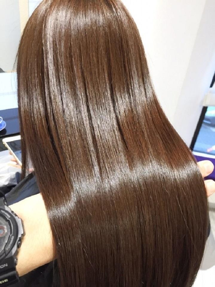 【酸熱トリートメント】で髪質改善
