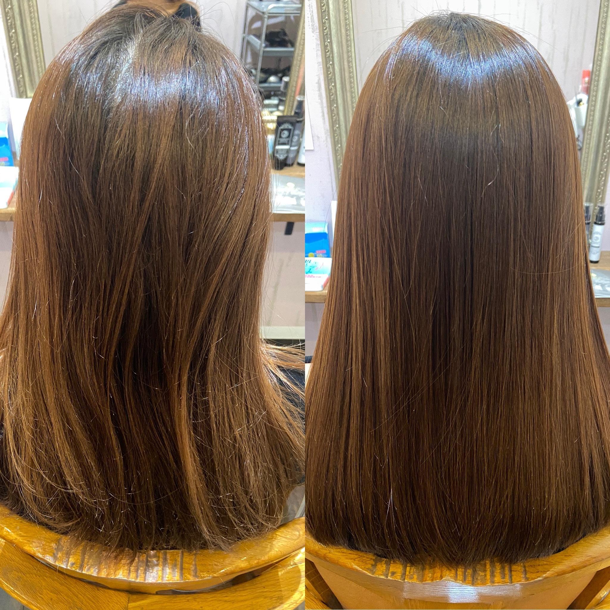 うねりやパサつきを抑えて艶髪にする髪質改善コース