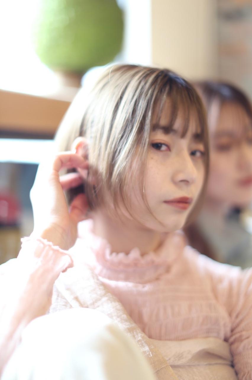 【ホームケア付き】ケアブリーチ外国人風カラー20350円