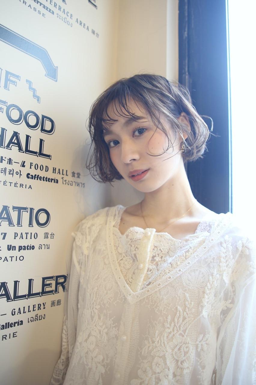 ステップボーンカット+髪質向上生ミネラル美容液カラー 13200円