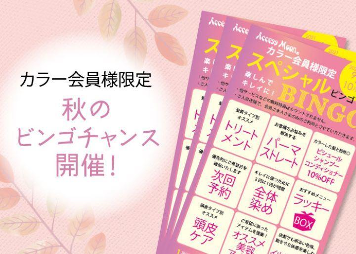 カラー会員様限定イベント『秋のビンゴチャンス』開催!